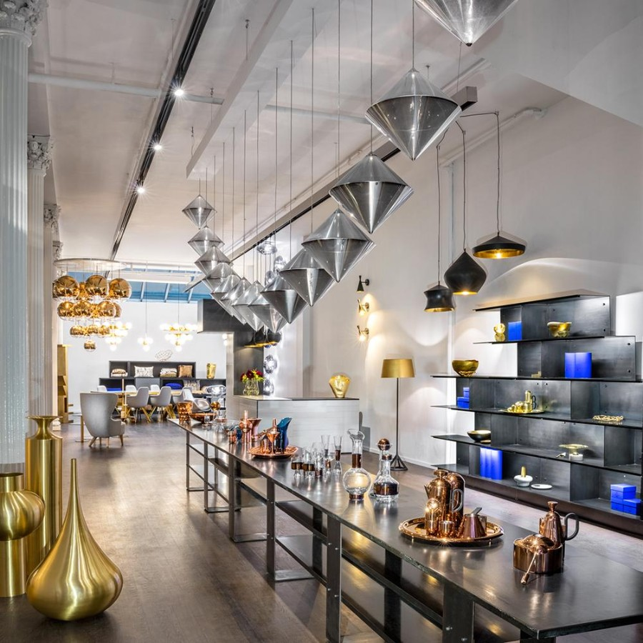 Tom Dixon, designer, showroom, furniture stores, lighting, luxury furniture, Flash Factory, installation, limited edition, architects, interior designers,  tom dixon Inside Tom Dixon's Showroom Space in New York Inside Tom Dixon   s New Showroom Space in New York 3