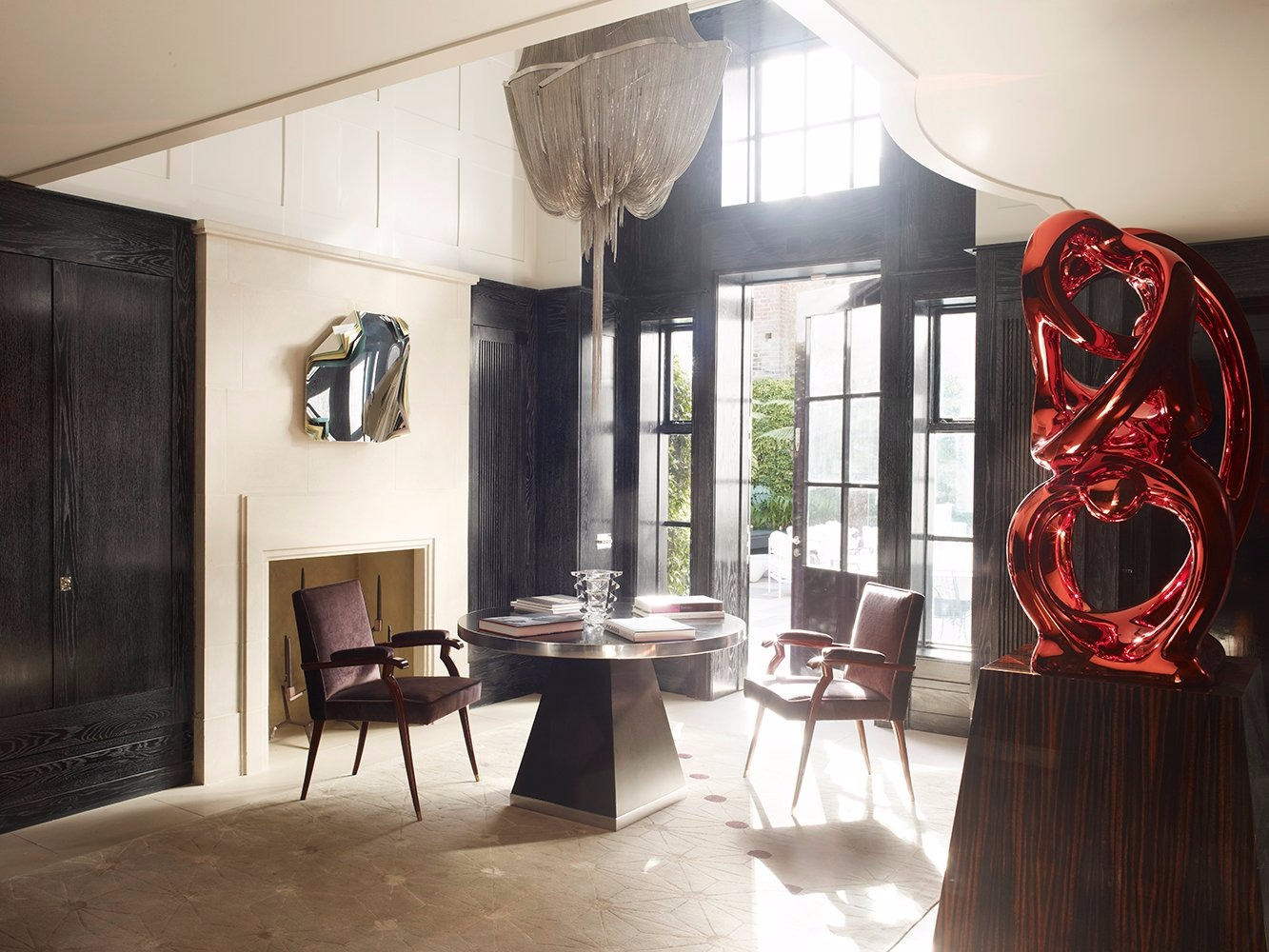 design project, Residence, modern design, Manueline, architectural ornamentation, contemporary design, copper leaf, wallpaper, Rafael De Cárdenas design project Rafael De Cárdenas Remarkable Design Project With Manueline Aesthetic Rafael De C  rdenas Remarkable Design Project With Manueline Aesthetic 7
