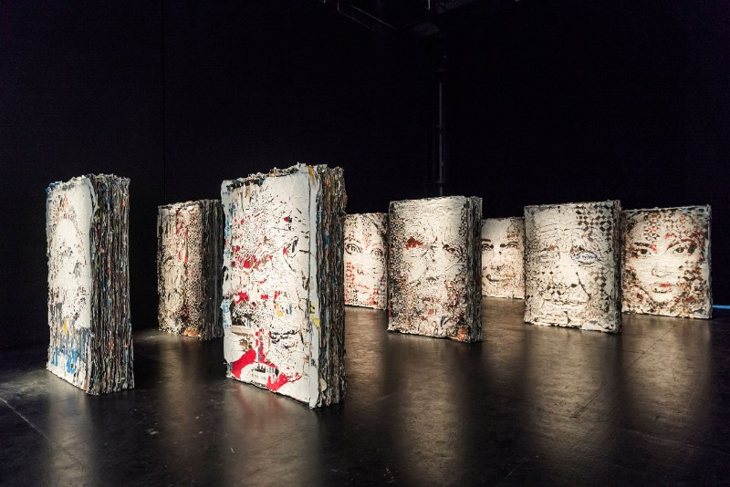 VHILS, Urban Art, Street art, carving, art exhibition, carved wooden doors, engraved metal, art installation, chisels, jackhammers, portraits, urban archaeologist vhils Urban Art: VHILS Takes Over Paris Urban Art VHILS Takes Over Paris 5