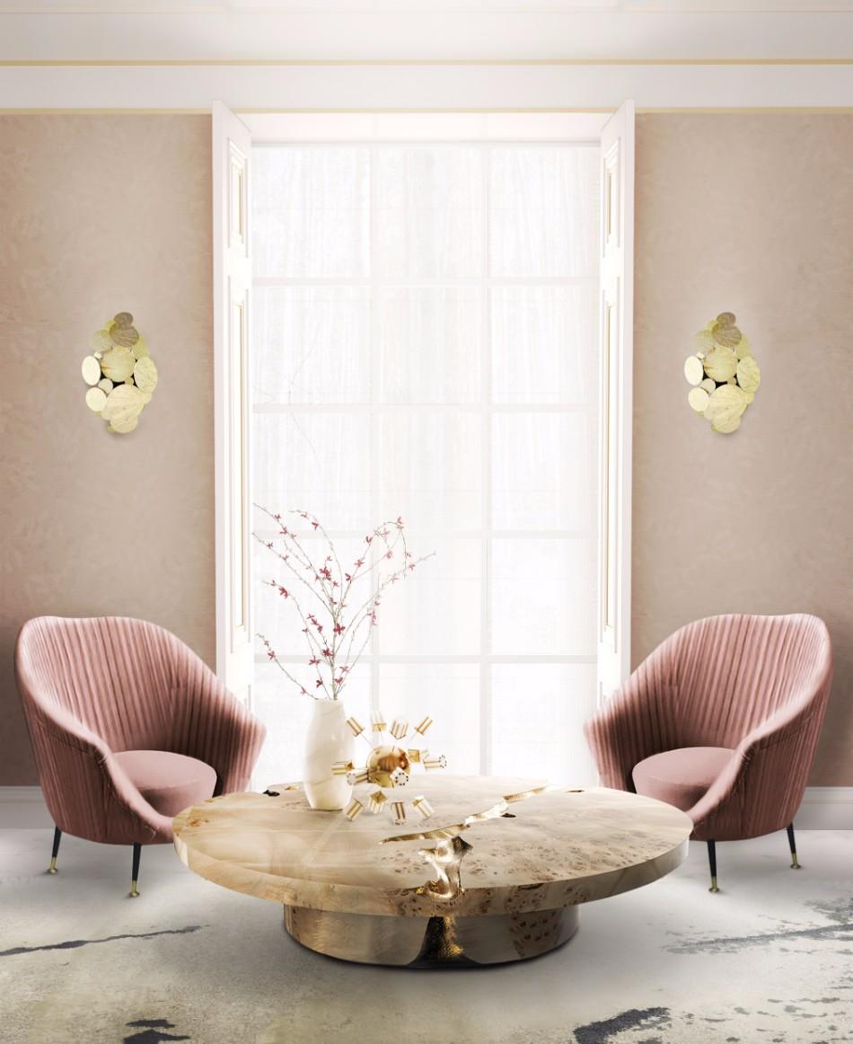 luxury furniture Discover Boca do Lobo's Luxury Furniture: Newton Family empire center table and newton wall lamp by boca do lobo