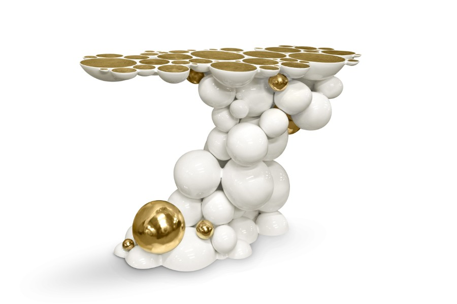 luxury furniture Discover Boca do Lobo's Luxury Furniture: Newton Family newton console white 02
