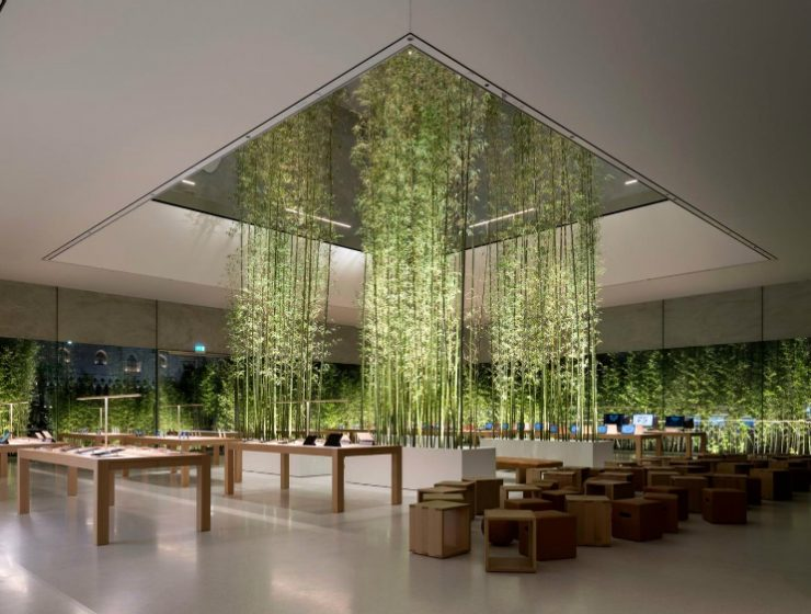 Foster + Partners Inside Apple Store Atrium in Macau by Foster + Partners Apple Cotai Central gives Macau a new oasis of calm Foster  Partners 740x560