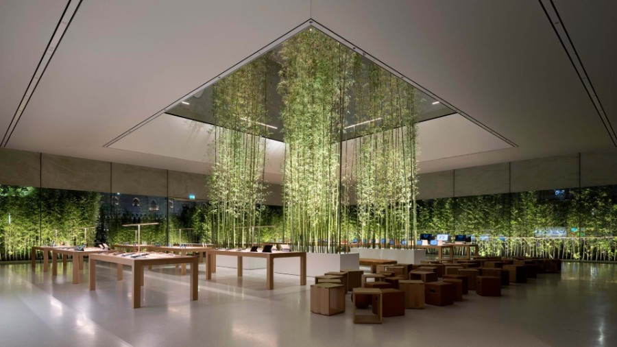 Apple, Foster + Partners, technology, entertainment, arts, timeless design, bamboo, Jonathan Ive, Angela Ahrendts, Apple store, interior design, design Foster + Partners Inside Apple Store Atrium in Macau by Foster + Partners Inside Apple Store Atrium in Macau by Foster Partners 4
