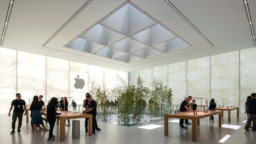 Foster + Partners Inside Apple Store Atrium in Macau by Foster + Partners Inside Apple Store Atrium in Macau by Foster Partners 7