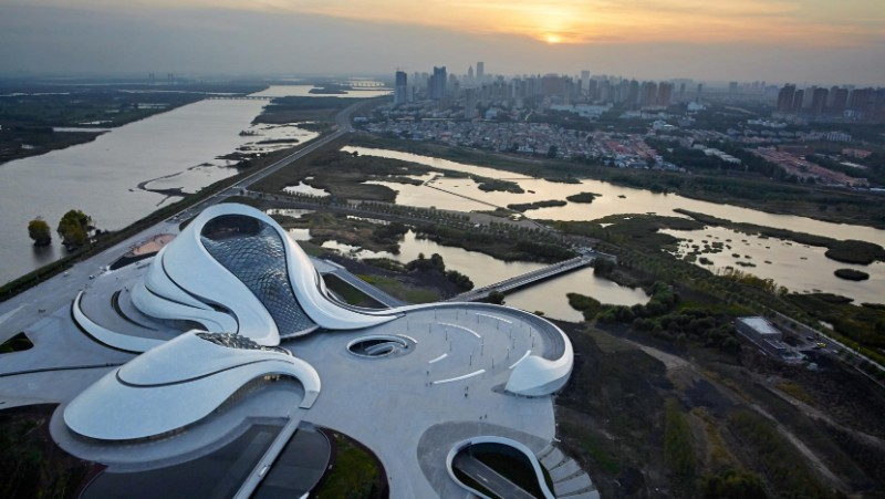 Harbin Opera House, MAD Architects, landmark, architectural building, white aluminum, glass wall, architecture, architectural design Harbin Opera House The Sculptural Design of the Harbin Opera House by MAD Architects  The Sculptural Design of the Harbin Opera House by MAD Architects 2