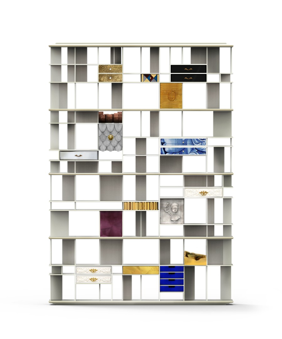 tiles The Art of Hand-Painted Tiles Behind Boca do Lobo's Luxury Furniture coleccionista custom bookcase shelf 01