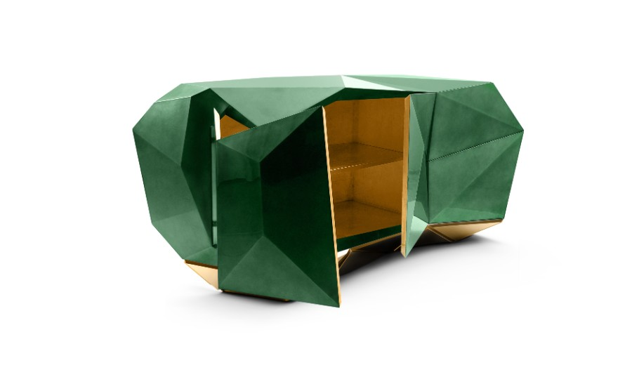Joinery, woodworking, designs, carpentries, wood carving, marquetry, luxury furniture joinery The Art of Joinery Behind Boca do Lobo's Luxury Furniture  diamond emerald 01