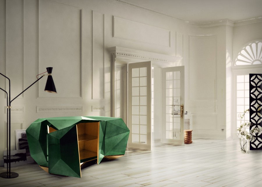 Luxury Furniture The Art of Leaf Gilding Behind Boca do Lobo's Luxury Furniture diamond emerald 06