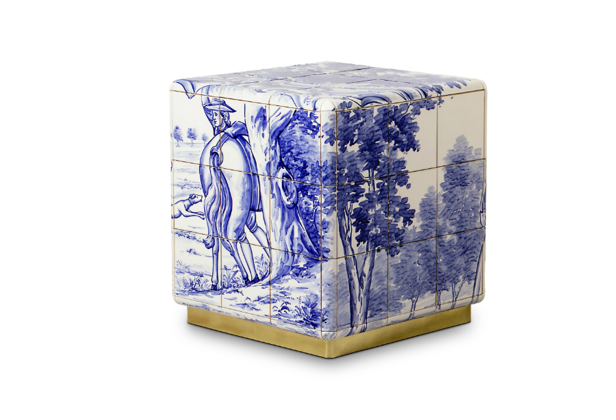 tiles The Art of Hand-Painted Tiles Behind Boca do Lobo's Luxury Furniture heritage small nightstand 01 HR 1