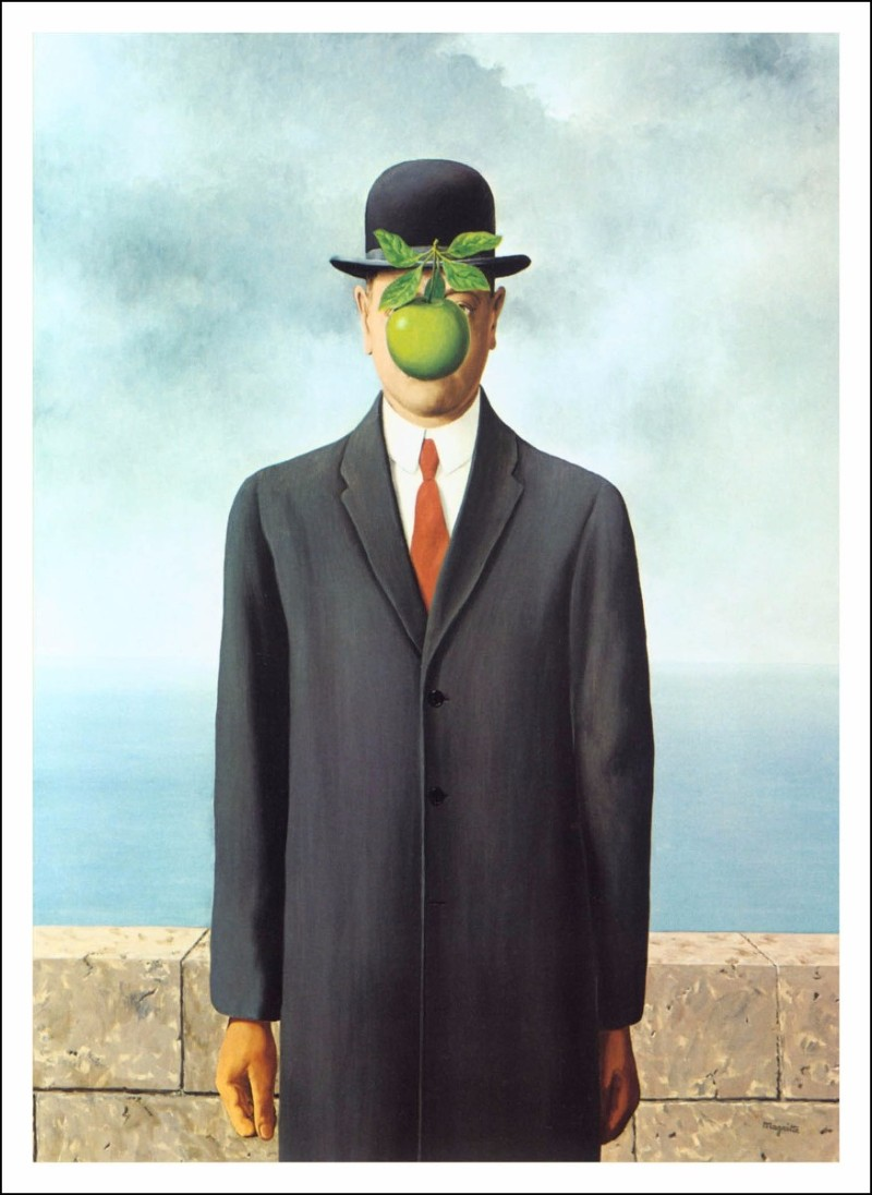 most famous artists Some of The Most Famous Artists Of All Time lienzo tela el hijo del hombre rene magritte