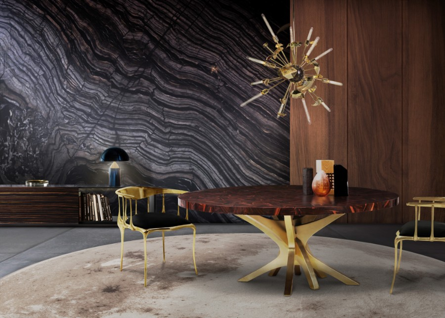 Luxury Furniture The Art of Leaf Gilding Behind Boca do Lobo's Luxury Furniture patch dining table hr