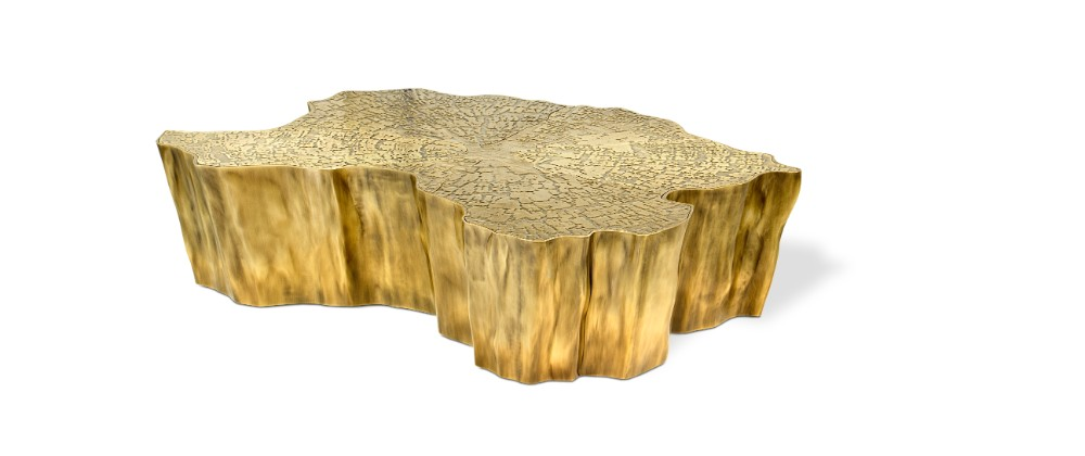 decorex A Design Affair By Boca Do Lobo & Rug'Society at Decorex eden gold matte center table 03 hr