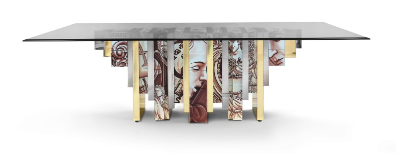 Modern A Modern Art Saved from The Past : Heritage Series by Boca do Lobo heritage table sepia 01