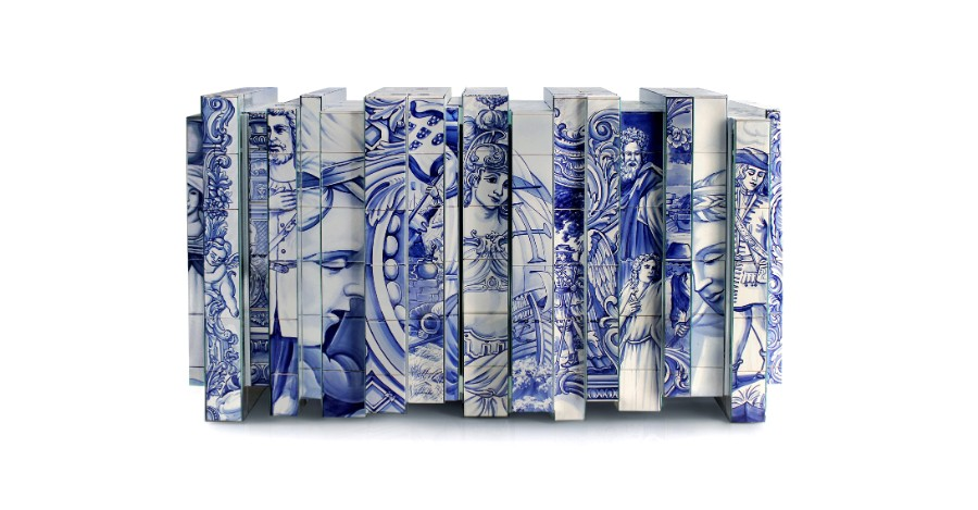 homo faber, Design, Craftsmanship, filigree, hand-painted tiles, artisans, bespoke, jewelry, handcrafted homo faber Filigree And Azulejos Heritage At Homo Faber heritage sideboard 01 1