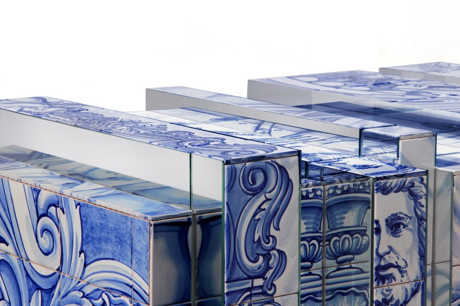 homo faber, Design, Craftsmanship, filigree, hand-painted tiles, artisans, bespoke, jewelry, handcrafted homo faber Filigree And Azulejos Heritage At Homo Faber heritage sideboard 06 1