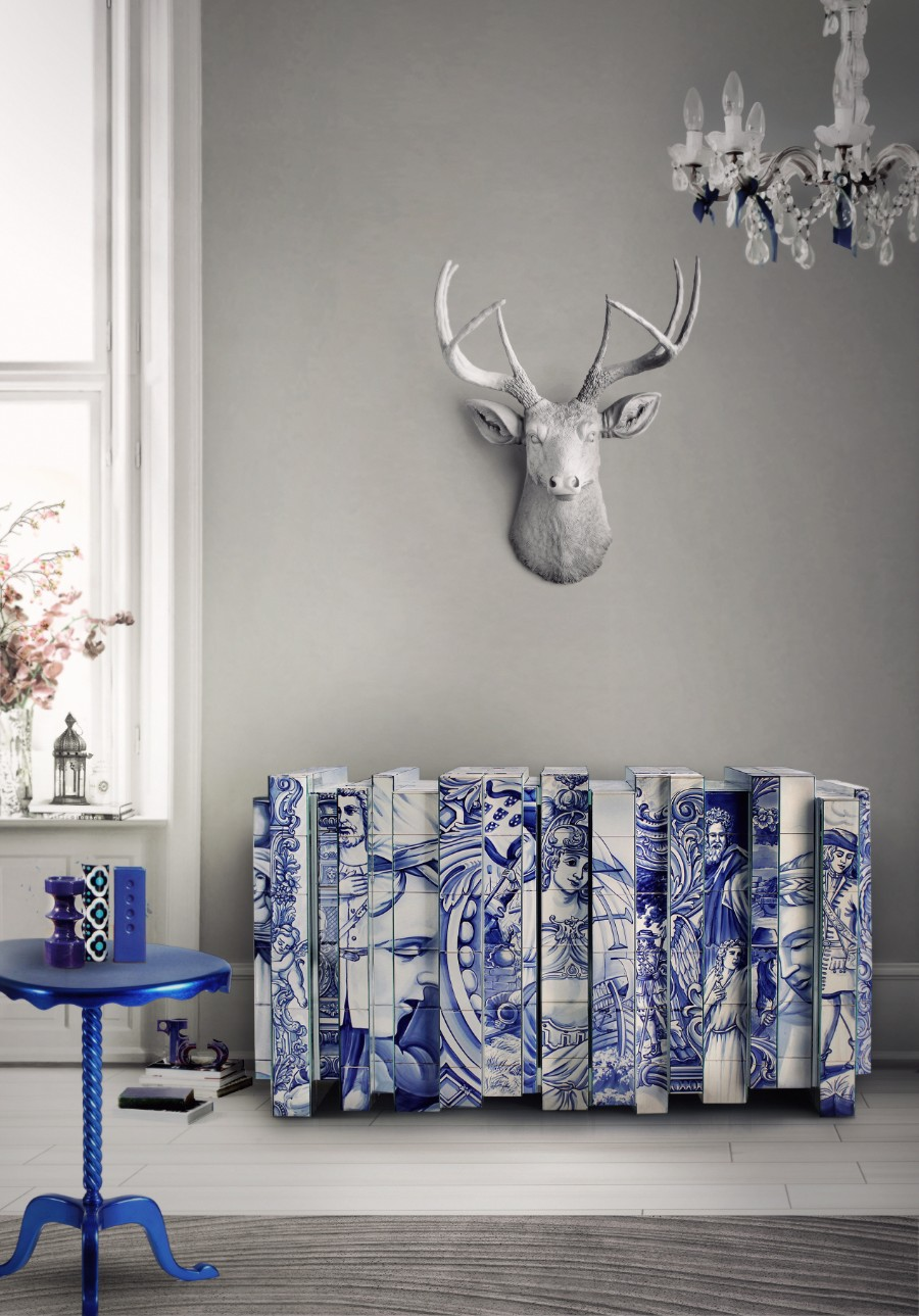 homo faber, Design, Craftsmanship, filigree, hand-painted tiles, artisans, bespoke, jewelry, handcrafted homo faber Filigree And Azulejos Heritage At Homo Faber heritage sideboard 07 1