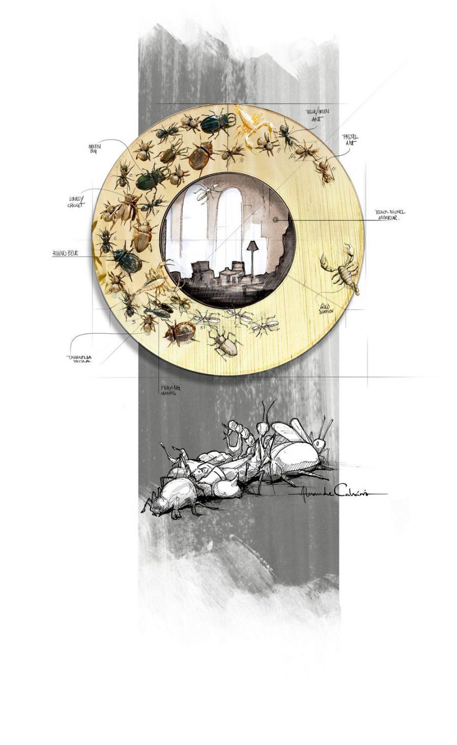 luxury furniture Luxury Furniture: Discover Metamorphosis Series Iconic Pieces metamorphosis mirror sketch 900x1467