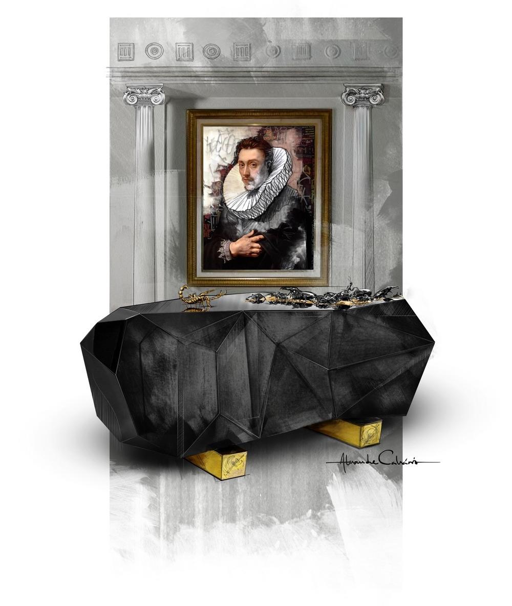 luxury furniture Luxury Furniture: Discover Metamorphosis Series Iconic Pieces methamorphosis diamond sketch