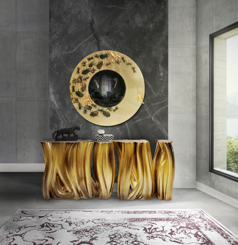 console Monochrome Console: A Demonstration of Imagination And Strong Design ambience monochrome gold boca do lobo