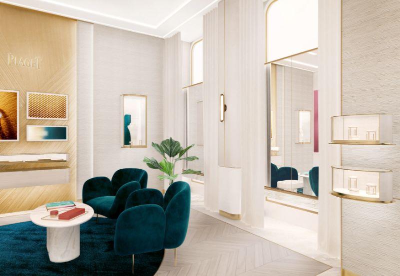 Piaget Store's Unique Design Concept: A Project by TPG Architecture piaget Piaget Store's Unique Design Concept: A Project by TPG Architecture 3 piaget salon interieur dos facade ok1