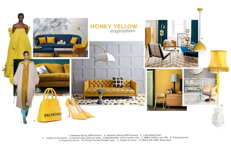 Sunny Inspirations - Honey Yellow Interior Design Trends interior design trends Sunny Inspirations – Honey Yellow Interior Design Trends Sunny Inspirations Honey Yellow and Round Shaped Trends 2