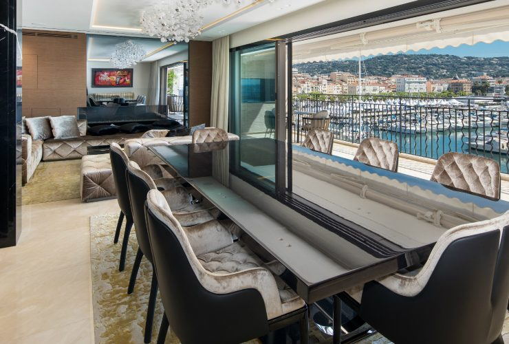 french apartment A French Apartment That Overlooks The Dazzling Port Of Cannes feature 2 740x500