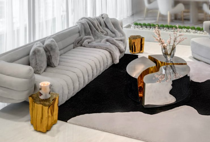 home design A Reflective White and Gold Trendsetting Home Design feature 740x500