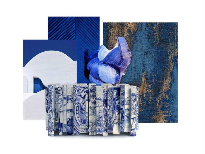 Pantone's Classic Blue Inspired Modern Living Room Designs