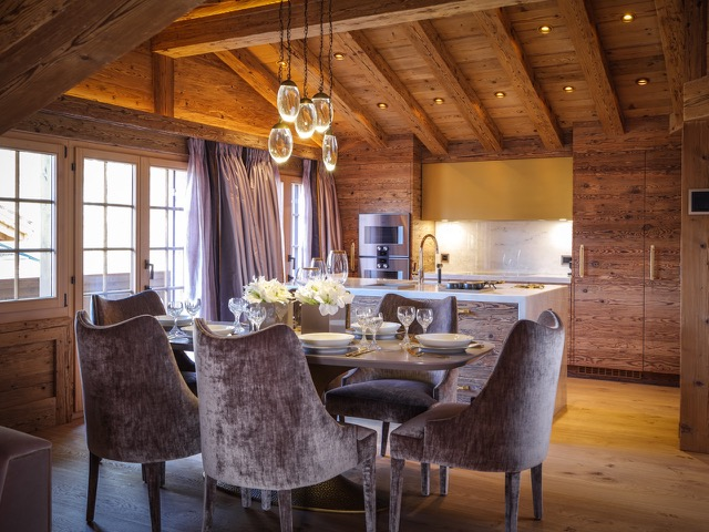 Exclusive Rustic Chalet In The Swiss Montains By Rougemont Interiors (4)
