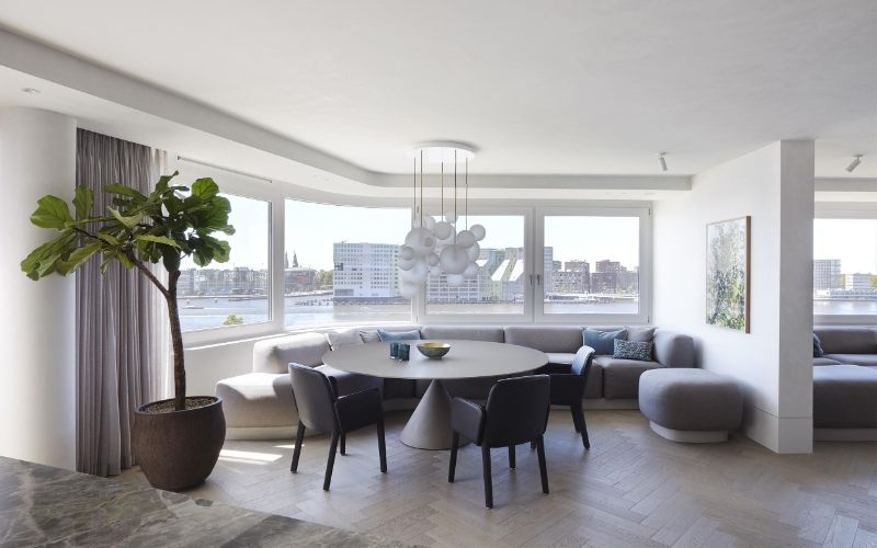 interior designers Design Hubs Of The World – 20 Top Interior Designers From Amsterdam Piet Boon Crafts Modern Apartment Overlooking The City Of Amsterdam 1