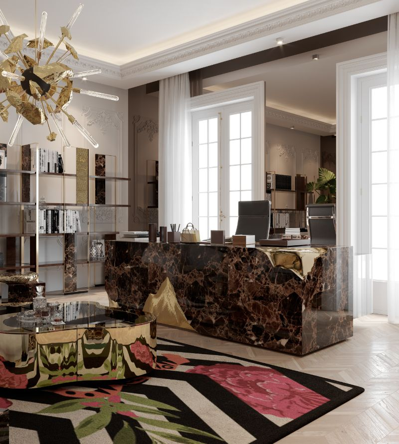 House Tour Of A Luxurious Paris Penthouse - Exclusive Interview With Boca do Lobo Design Team! boca do lobo House Tour Of A Luxurious Paris Penthouse – Exclusive Interview With Boca do Lobo Design Team! A Luxury Office Setting For An Architects Millionaire Penthouse 1 1