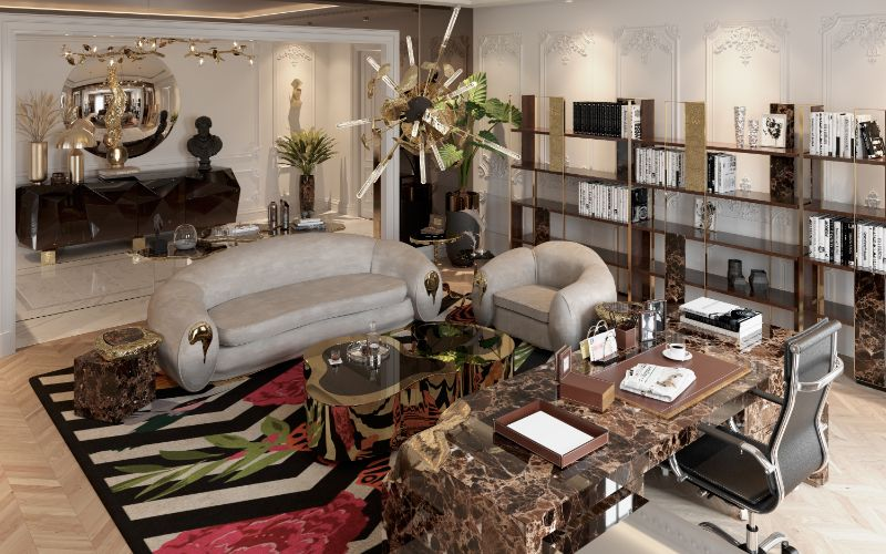 House Tour Of A Luxurious Paris Penthouse - Exclusive Interview With Boca do Lobo Design Team! boca do lobo House Tour Of A Luxurious Paris Penthouse – Exclusive Interview With Boca do Lobo Design Team! A Luxury Office Setting For An Architects Millionaire Penthouse 3