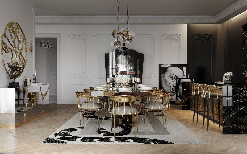 boca do lobo House Tour Of A Luxurious Paris Penthouse – Exclusive Interview With Boca do Lobo Design Team! dining room 2