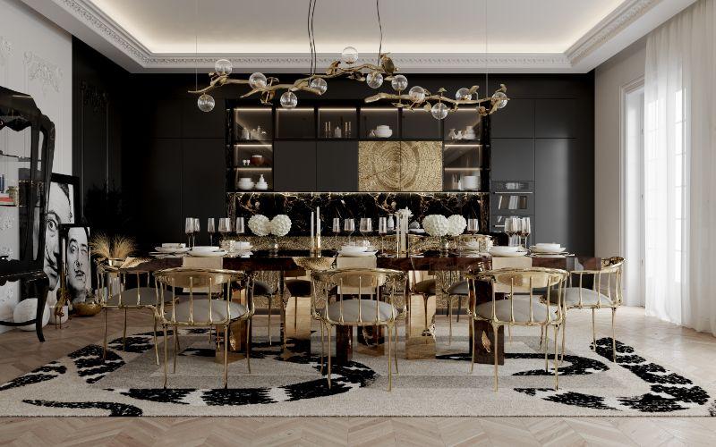 boca do lobo House Tour Of A Luxurious Paris Penthouse – Exclusive Interview With Boca do Lobo Design Team! dining room 4