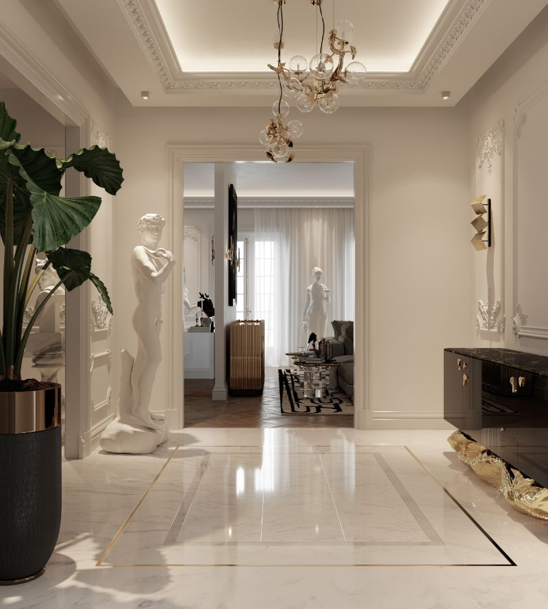 boca do lobo House Tour Of A Luxurious Paris Penthouse – Exclusive Interview With Boca do Lobo Design Team! entryway 3