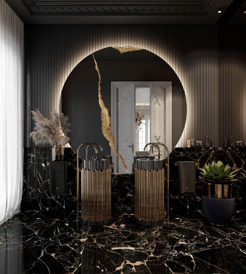 boca do lobo House Tour Of A Luxurious Paris Penthouse – Exclusive Interview With Boca do Lobo Design Team! guests bathroom 1