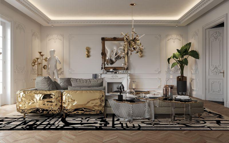 boca do lobo House Tour Of A Luxurious Paris Penthouse – Exclusive Interview With Boca do Lobo Design Team! living room 2