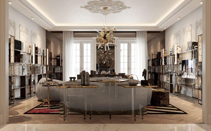 boca do lobo House Tour Of A Luxurious Paris Penthouse – Exclusive Interview With Boca do Lobo Design Team! office 5