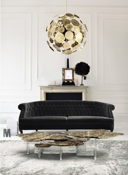 coffee table Modern Coffee Tables Ideas for the Perfect Living Room monet center table 02 boca do lobo 1