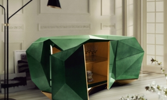 Design Trends in 2017 Design Trends in 2017 for the Luxurious Home DIAMOND EMERALD Sideboard Credenza Buffet by Pedro Sousa from BOCA DO LOBO Limited Edition Collection 2013 re edition 7 335x201